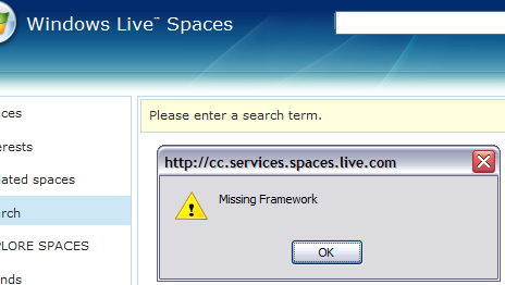 Spaces Error