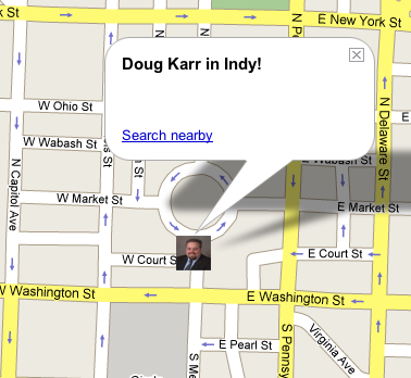 Map of Doug in Indianapolis