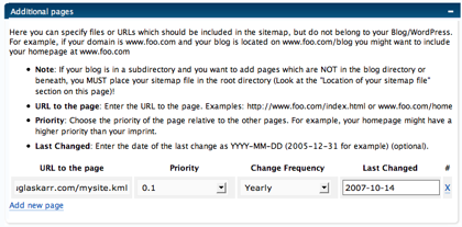 Add KML to Sitemap