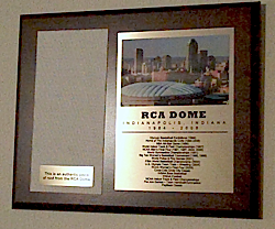 RCA Dome Plaque