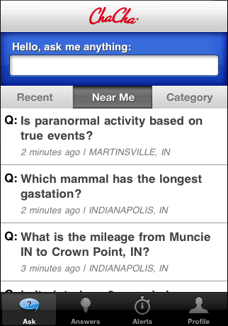 chacha geographic search