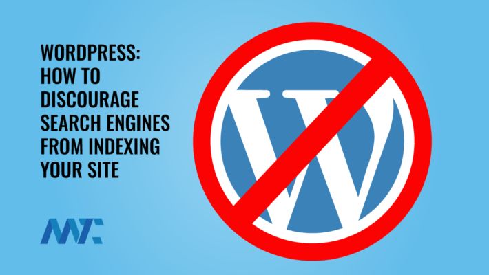 WordPress - How to Block Search Engines