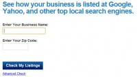 getListed.org site for checking local listings