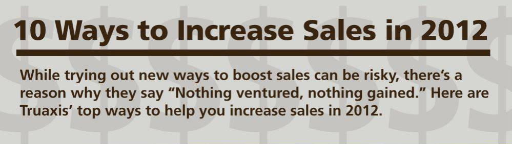 10 Ways to Increase Sales in 2012