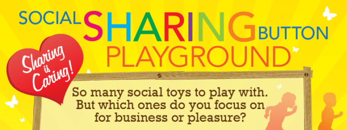 social sharing button infographic
