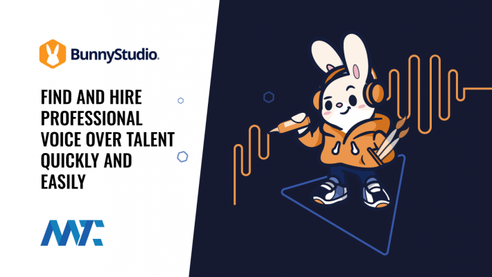 Find Professional Voice Over Talent with BunnyStudio