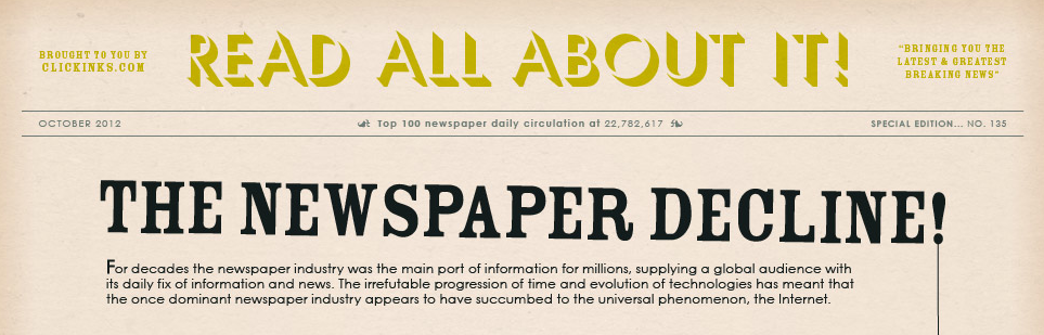 The Decline of Newspapers