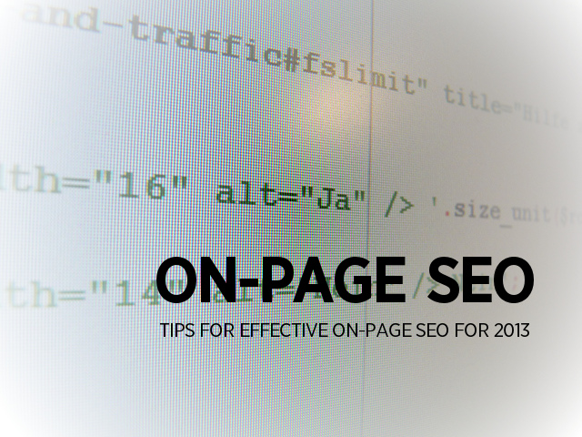 On-Page SEO Best Practices in 2013: 7 Rules of the Game