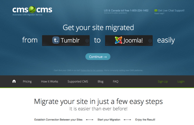 migrate CMS