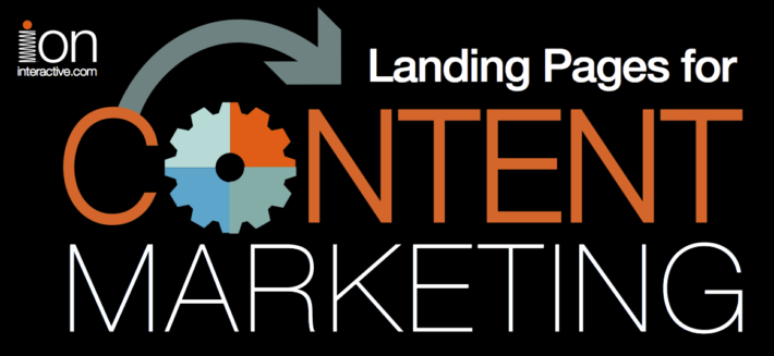 landing pages for content marketing