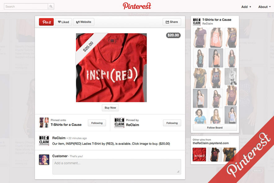 a9 Pinterest product page
