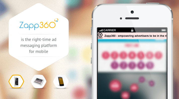 zapp360 real time mobile ad network
