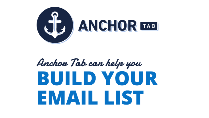 Anchor Tab: An Eloquent Email Signup Bar