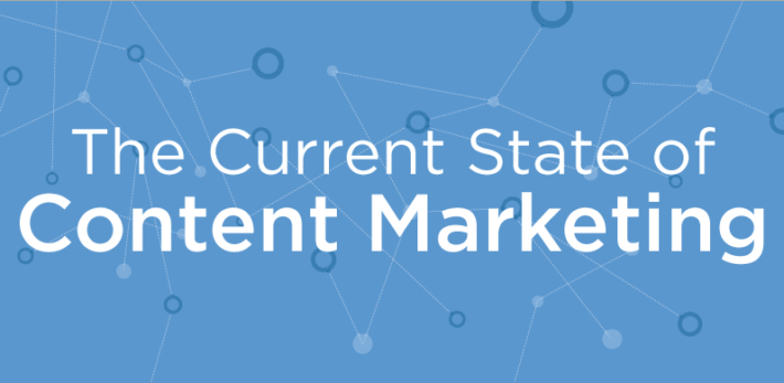 current state content marketing infographic