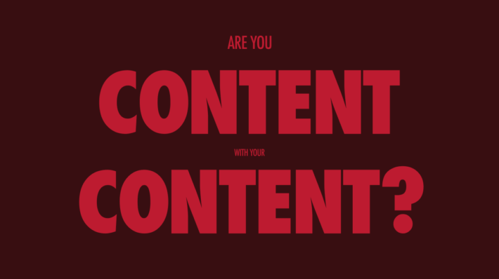your content