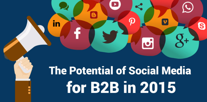 b2b social media potential infographic