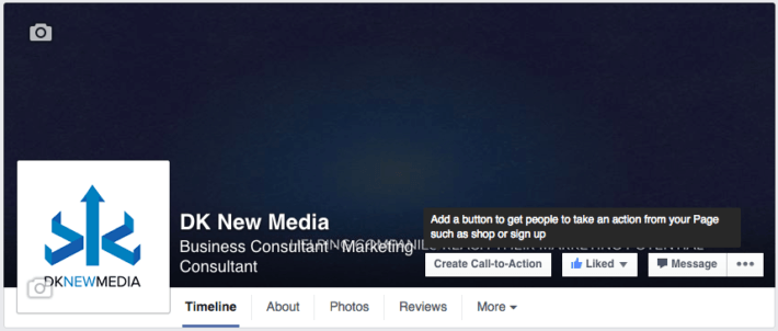 facebook page call to action