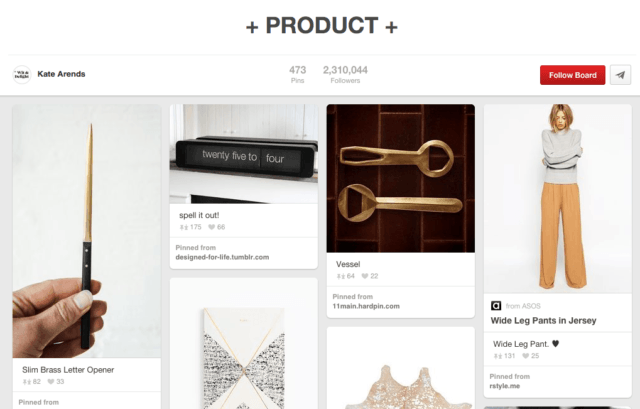 Kate Arends Pinterest Product Page