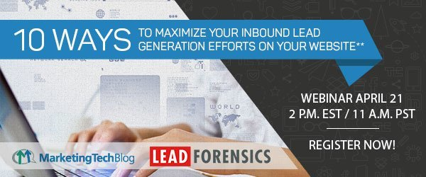 Live Webinar: 10 Ways to Maximize Your Inbound Lead Generation Efforts on Your Website