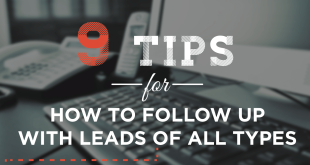 Sales Lead Follow Up Template