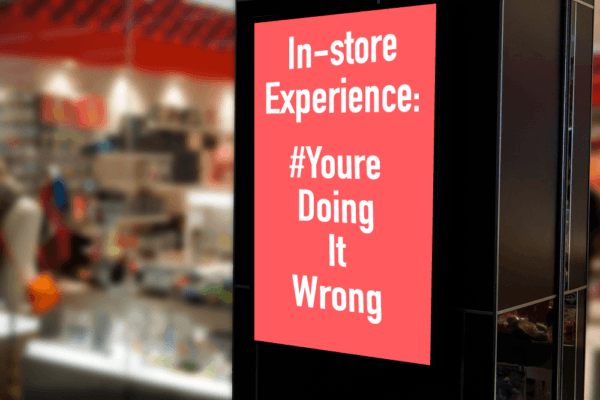 in store experience displays personalization