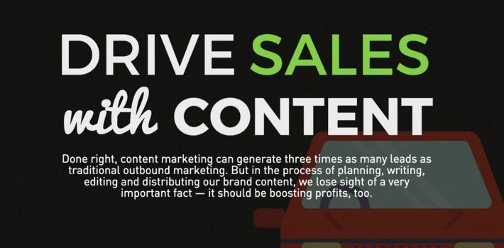 drive sales using content marketing