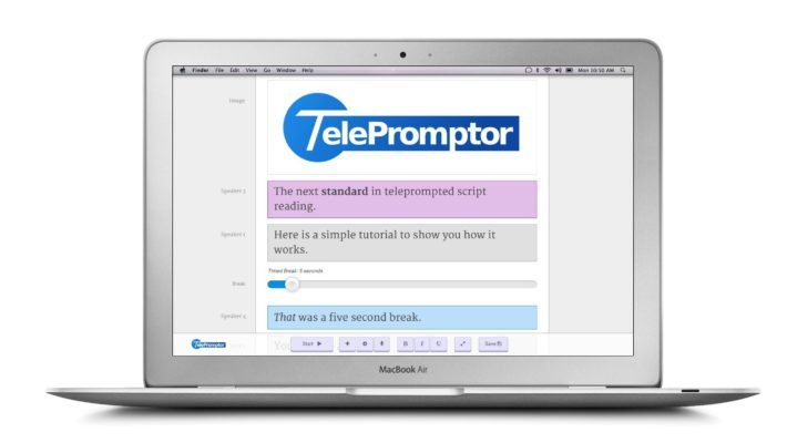 teleprompter editor
