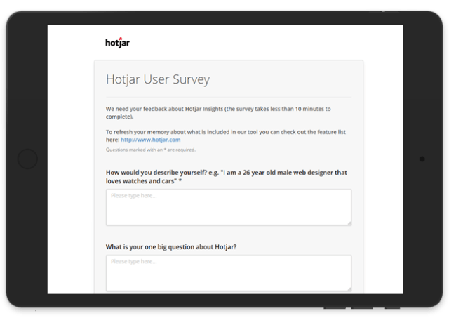User Surveys