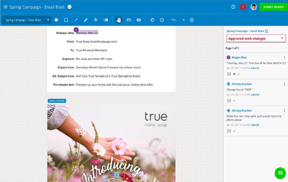 email review process platform inmotionnow