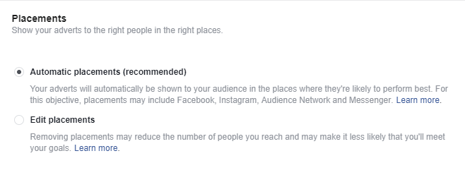 Facebook Ad Automated Placement
