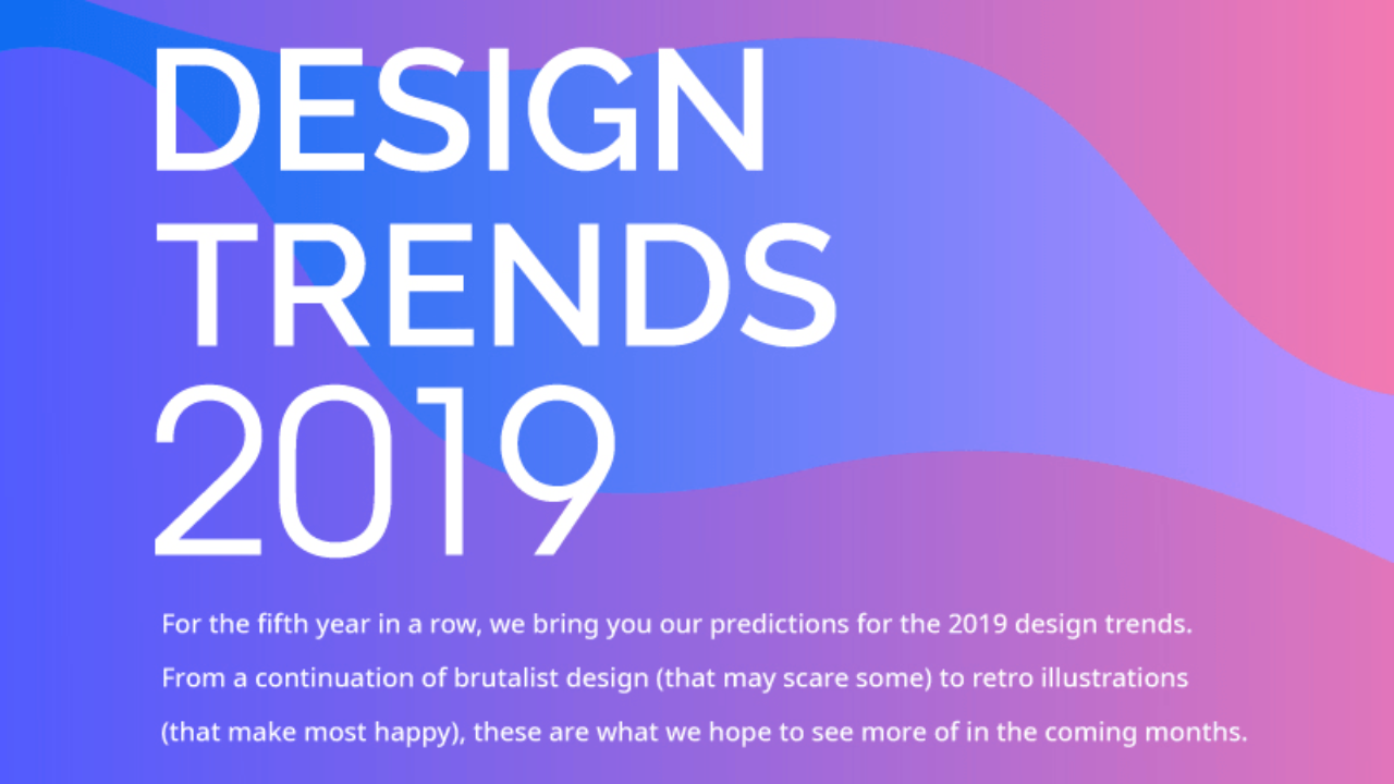 Design Trends For 2019 Asymmetry Jarring Colors And
