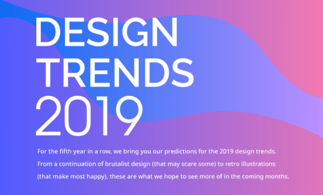 Graphic and Web Design Trends for 2019