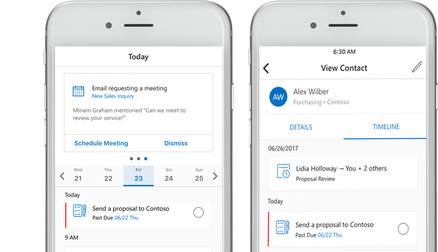 Outlook CRM - Mobile