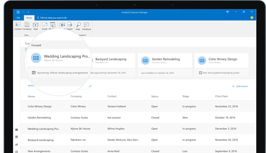 Outlook Contact Manager Stage