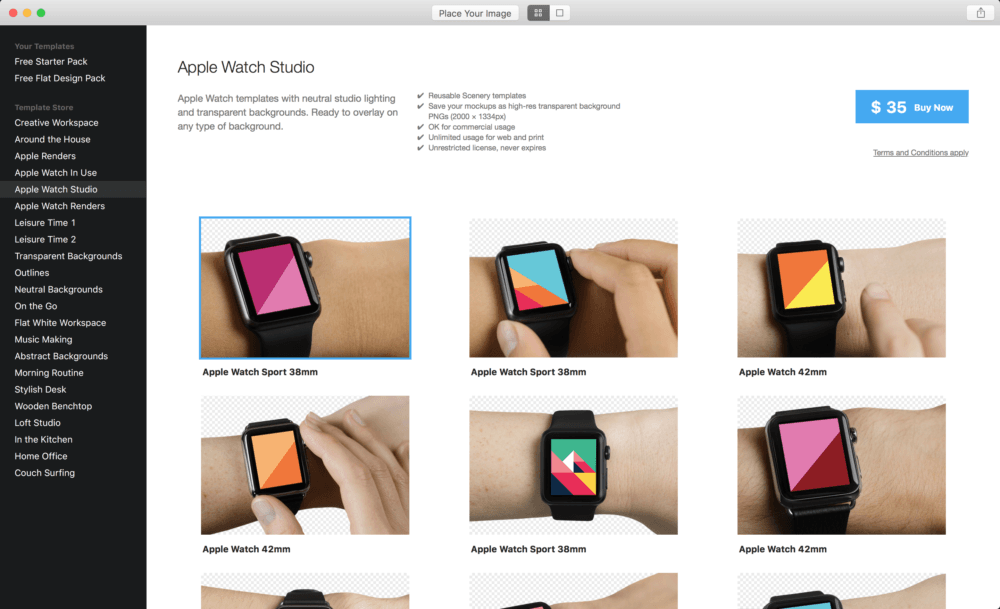 Scenery Mockups for Apple Watch