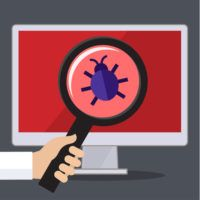 Concept of searching bugs and viruses