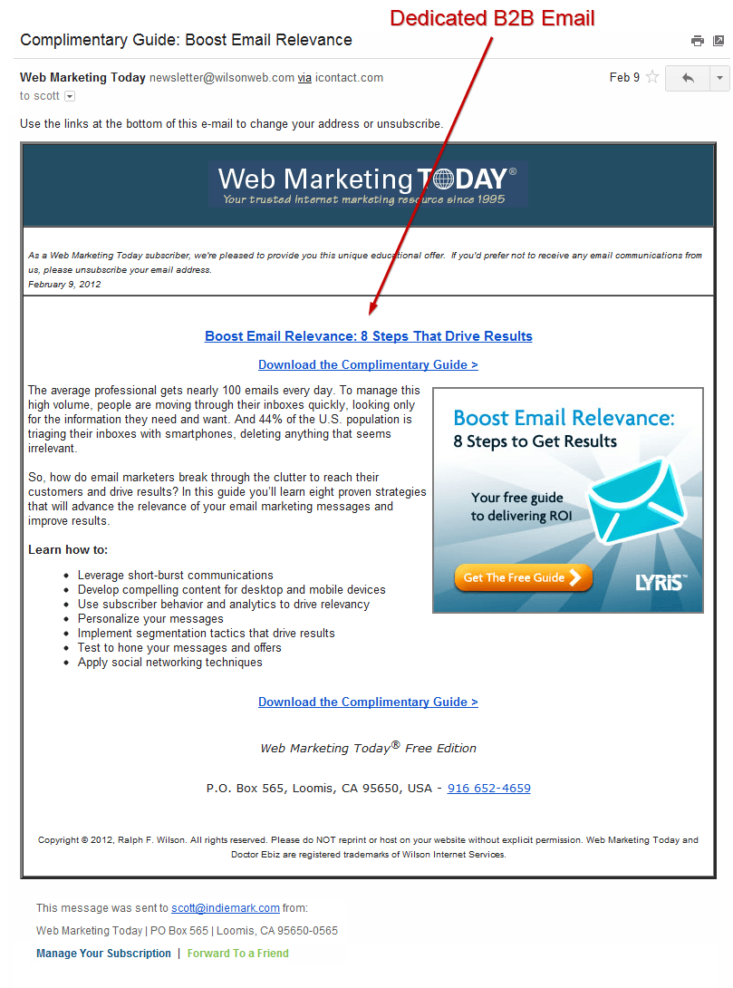 web marketing today email