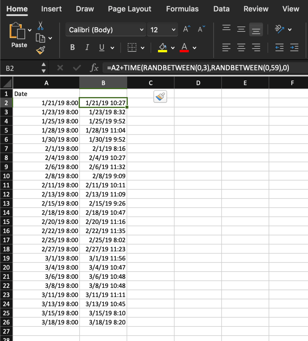 excel add time
