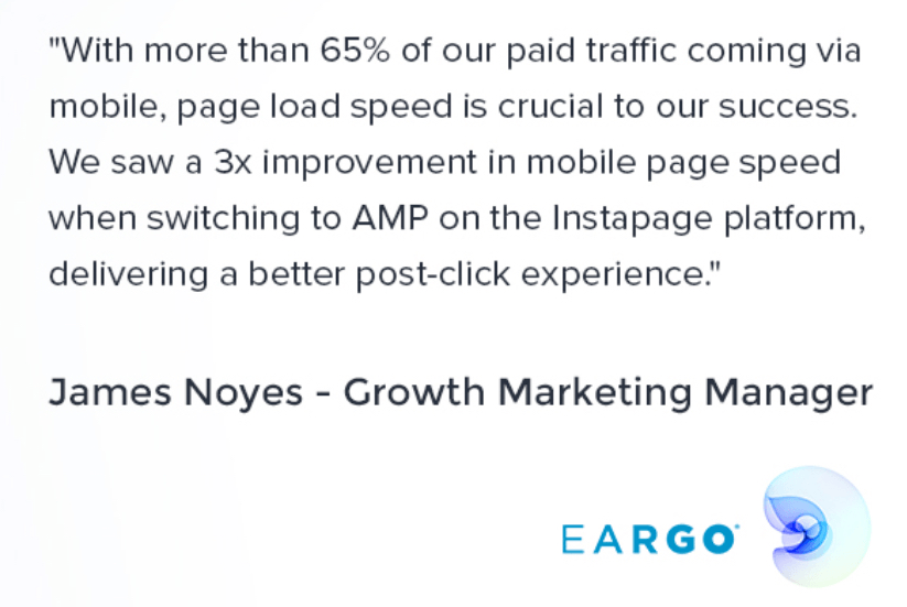 AMP Landing Pages by Instapage