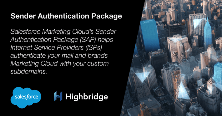 Sender Authentication Package - Marketing Cloud