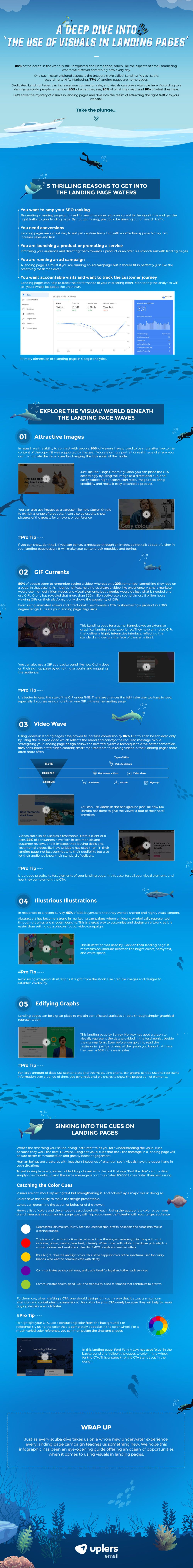 Landing Page Visuals Infographic