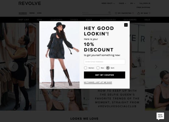Discount Offer Exit Intent Pop-up