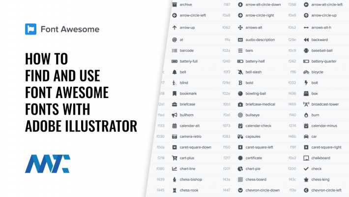 How to Find and use Font Awesome Fonts With Adobe Illustrator