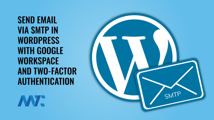 WordPress Google Email SMTP 2FA