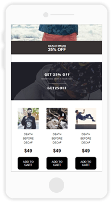 Mobile Ecommerce Email