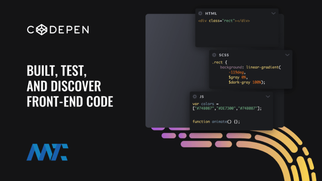 CodePen: Built, Test, Share and Discover HTML, CSS, and JavaScript