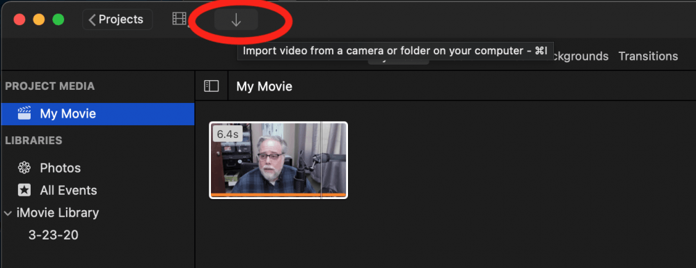 Import Video From A Camera