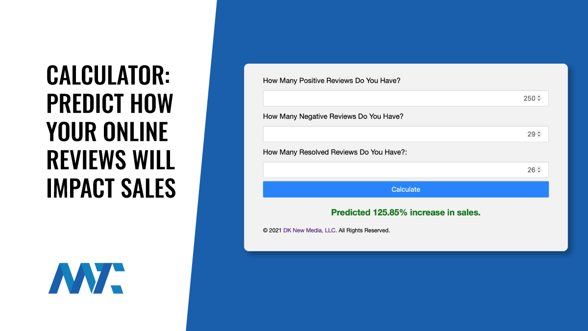Calculator: Predict How Your Online Reviews Will Impact Sales  Copy