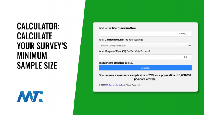 Online Calculator To Calculate Sample Size For A Survey