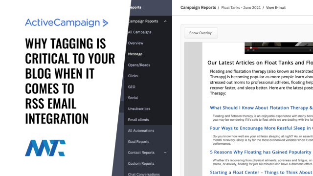 ActiveCampaign RSS Email Tag Feed Integration